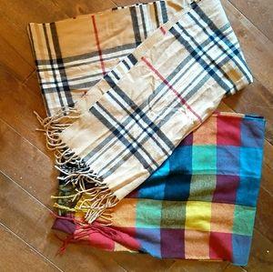 2 Nice quality scarves